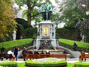 people sitting in a park in Brussels