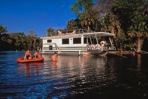 houseboat on a river in Florida
