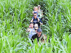 people walking through a maze in Florida