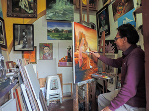 artiist painting