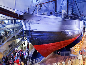 A ship in a museum in Orlo