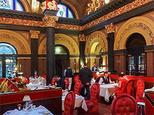 an ornate restaurant
