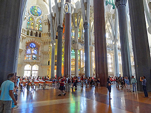 people in a cathedral