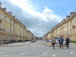 people walking on wide street