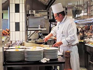 a chef in a restaurant kitchen