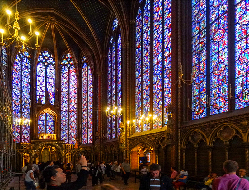 The stained-glass windows of Sainte-Chapelle