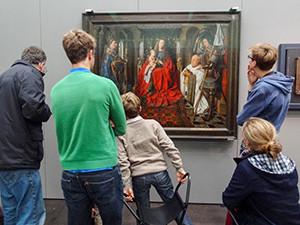 people in a museum Bruges, Belgium