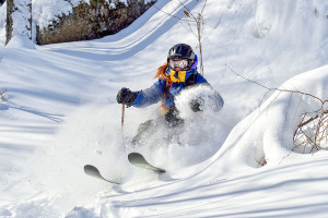 a skier Quebec's Eastern Townships