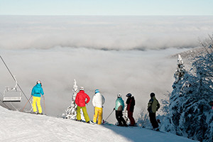 skiers Québec's Eastern Townships