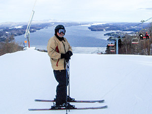 a skier Québec's Eastern Townships