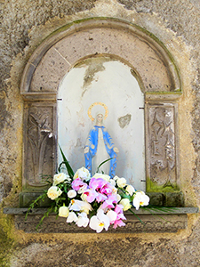 a shrine on the Amalfi Coast