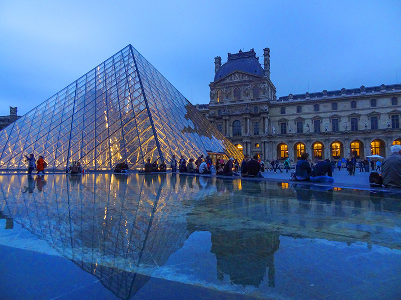 I.M. Pei's Pyramid and the Louvre, one of the top 10 places in Paris
