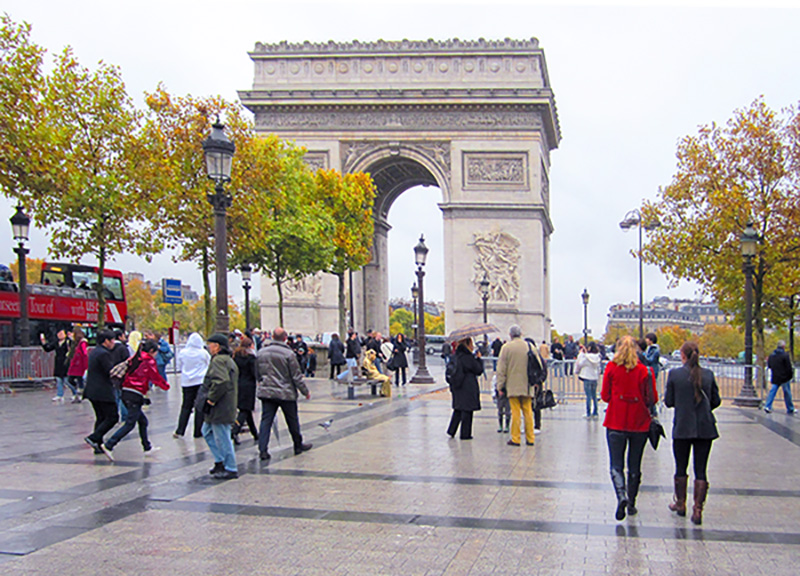 The Arc de Triomphe, one of the top 10 places in Paris
