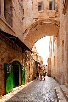 arch over street in Jerusalem