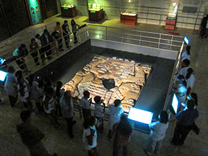 a museum exhibit in Mexico City