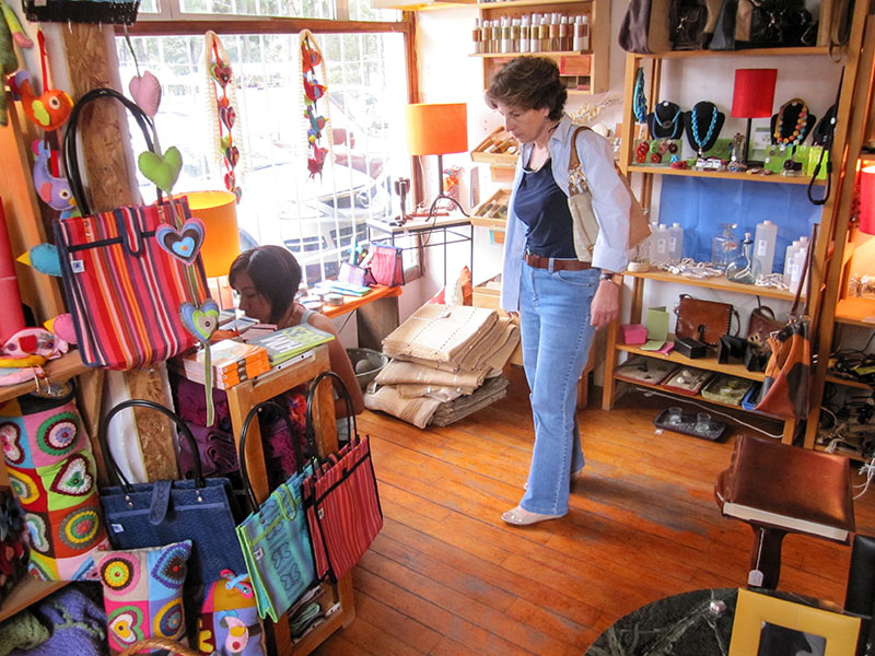 woman in a shop in Mexico City
