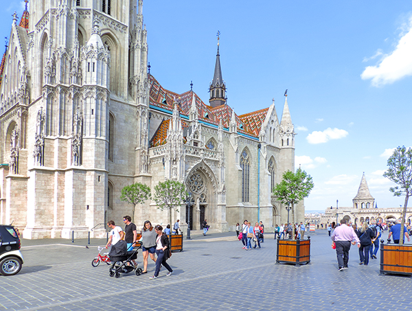 A Gothic church in Budapest