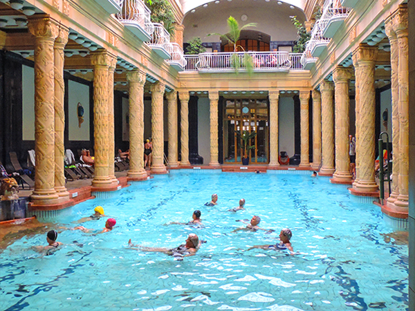 a swimming pool in Budapest