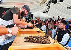 chef preparing food in Europe