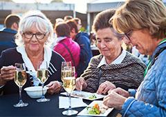 women eating food in Europe