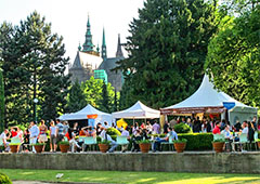 tents at a food festival in Europe