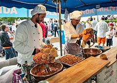 chefs preparing food in Europe