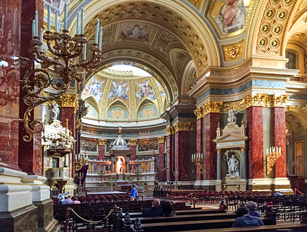 A baraoque church in Budapest