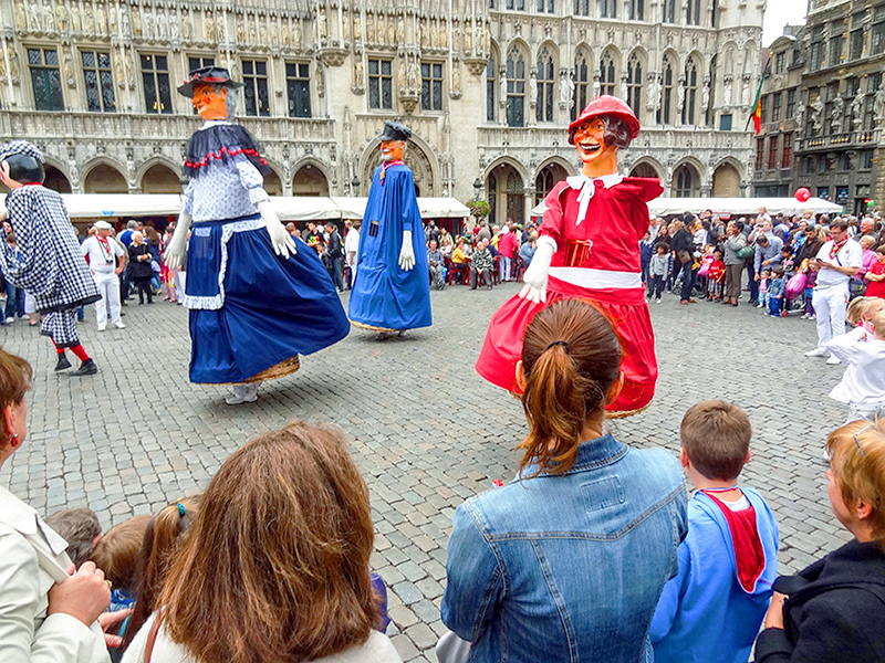 a festival in a city square in Belgium