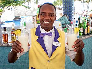 A Caribbean bartender