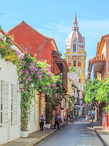a street in Cartagena