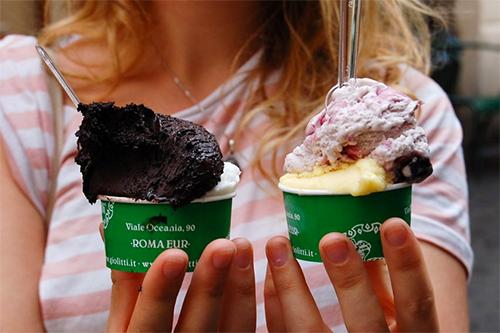 a gelateria in Rome