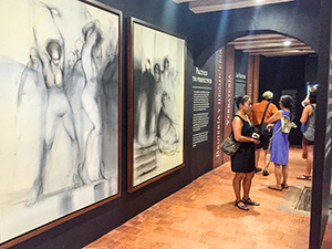 people in a museum in Cartagena