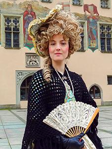 a woman in period costume in Bavaria
