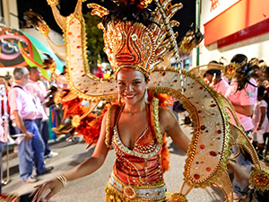 woman dancer in a Caribbean carnival