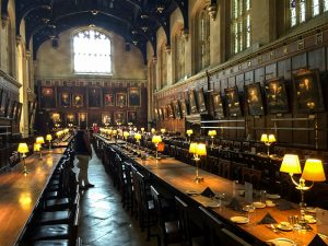 a university dining hall in England on day trips from London