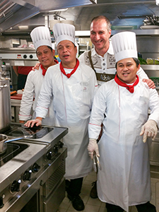 galley crew on a Viking cruise