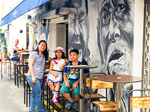 Outdoor café on Haji Lane in Singapore