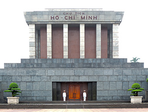 The Ho Chi Minh Mausole in Hanoium