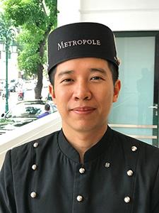 a hotel bellman in Hanoi
