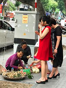Street food vendor in Hanoi