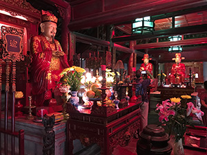 The altar of a temple in Hanoi