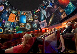 People in a Planetarium on the Queen Mary 2