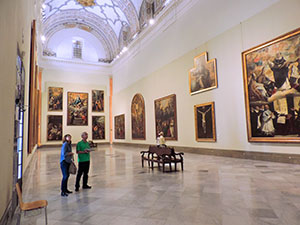 people in a museum in Seville