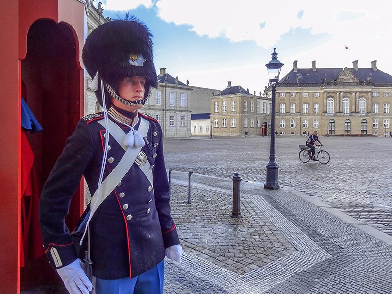 Palace guards in Scandinavia