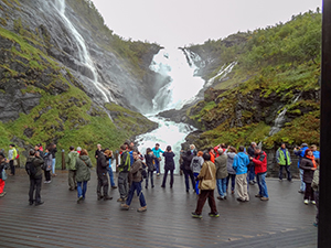 a waterfall in Norway in Scandinavia