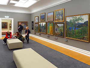 people in a museum in Norway in Scandinavia