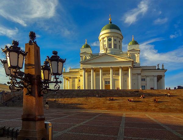 an old building in Helsini, Finland in Scandinavia