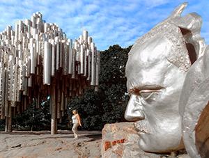 a monument in Helsinki in Scandinavia