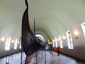 a Viking ship in Scandinavia