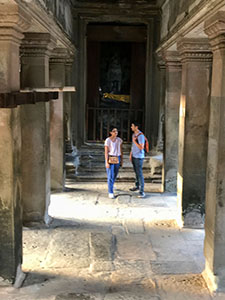 a couple in Angkor Wat, Cambodia